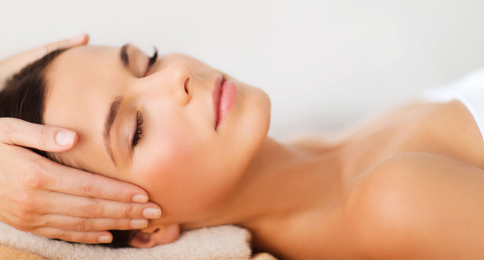 Relaxing facial treatments