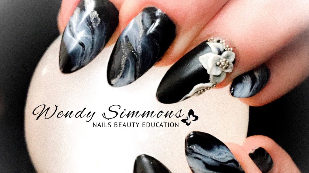 Ultra easy marble nail art - Wendy Simmons Nails Beauty Education