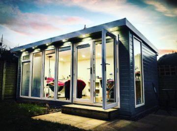An image of a garden studio for the salon